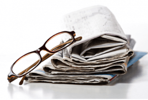 news and glasses