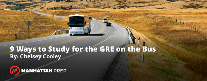 Manhattan Prep GRE Blog - 9 Ways to Study for the GRE on the Bus by Chelsey Cooley