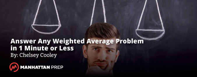 Manhattan Prep GRE Blog - Answer Any Weighted Average Problem in One Minute or Less by Chelsey Cooley