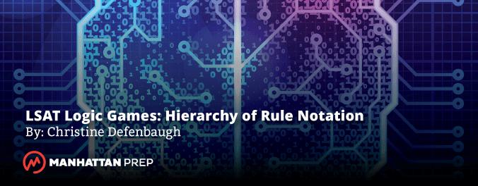 Manhattan Prep LSAT Blog - LSAT Logic Games: Hierarchy of Rule Notation by Christine Defenbaugh